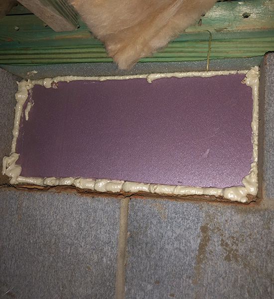 Crawl Space Vent Insulation